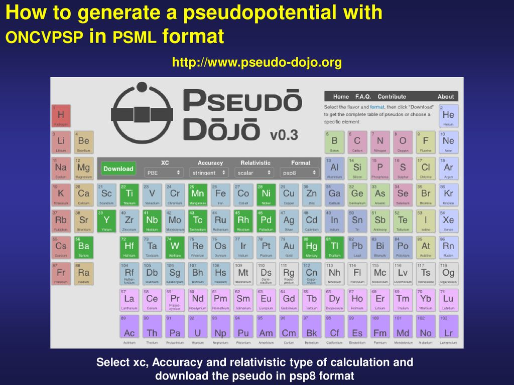 psml pseudopotential format - ppt download