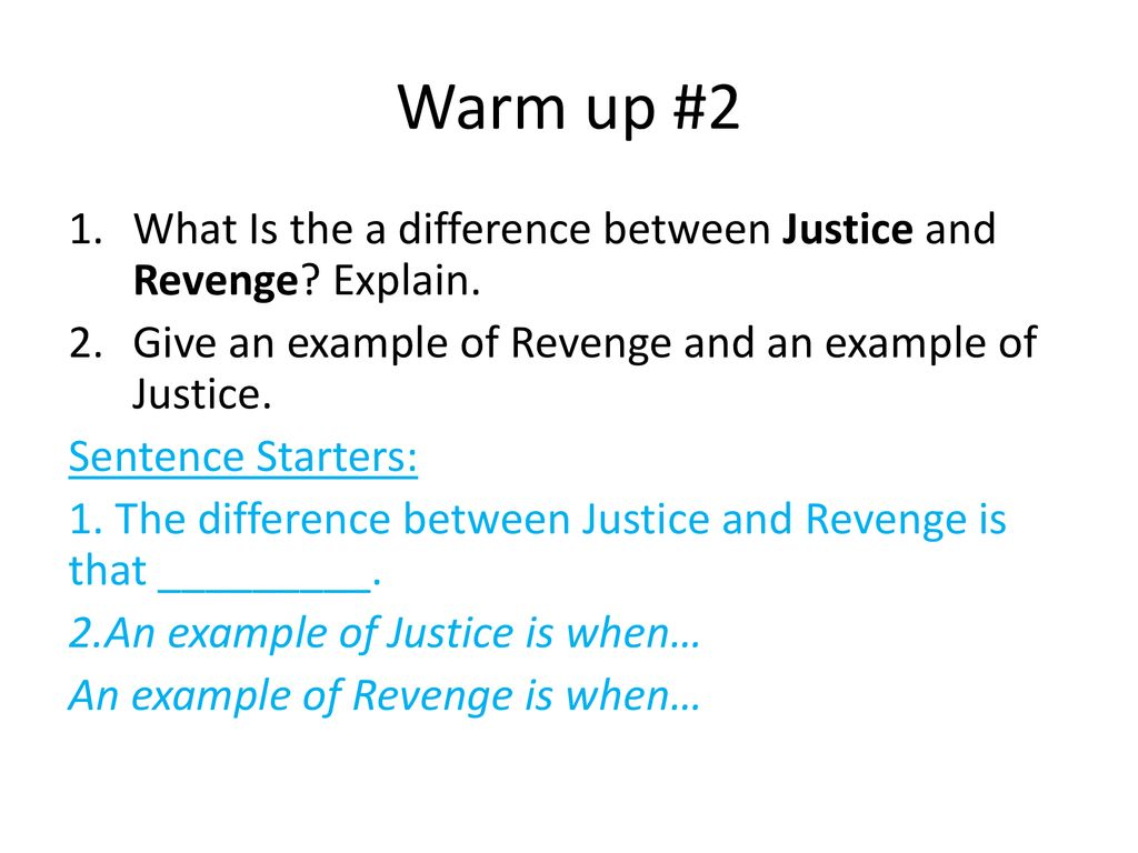what is the difference between justice and revenge