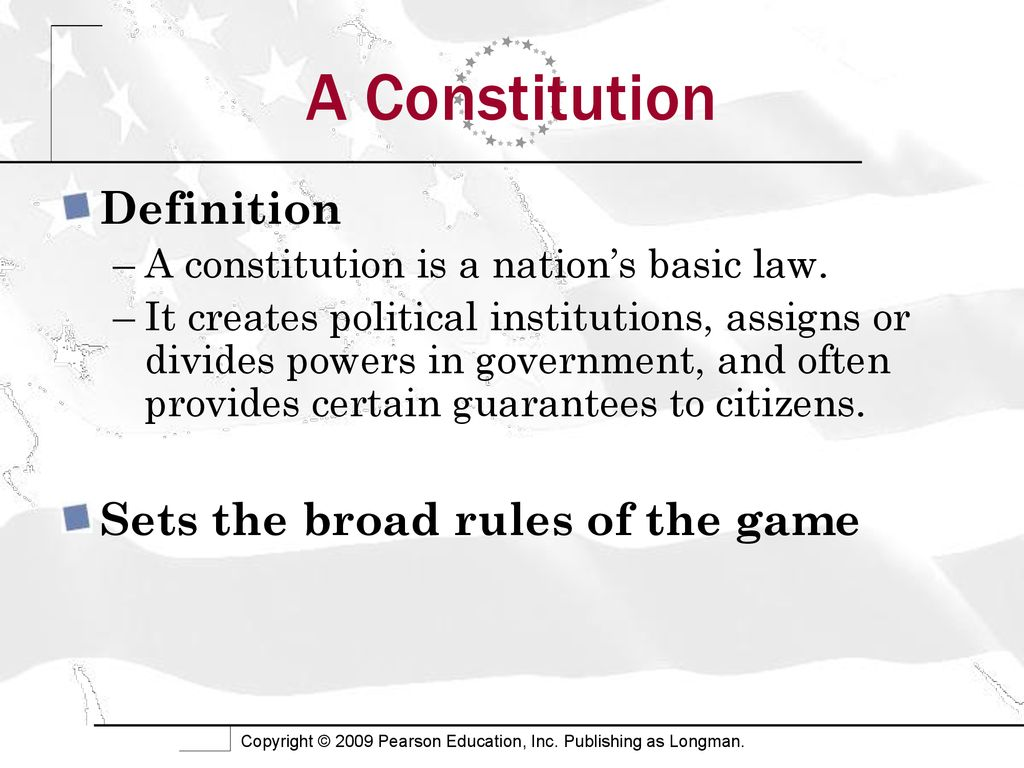 the constitution. - ppt download