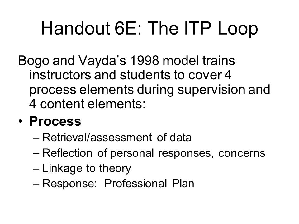 Handout 6E: The ITP Loop