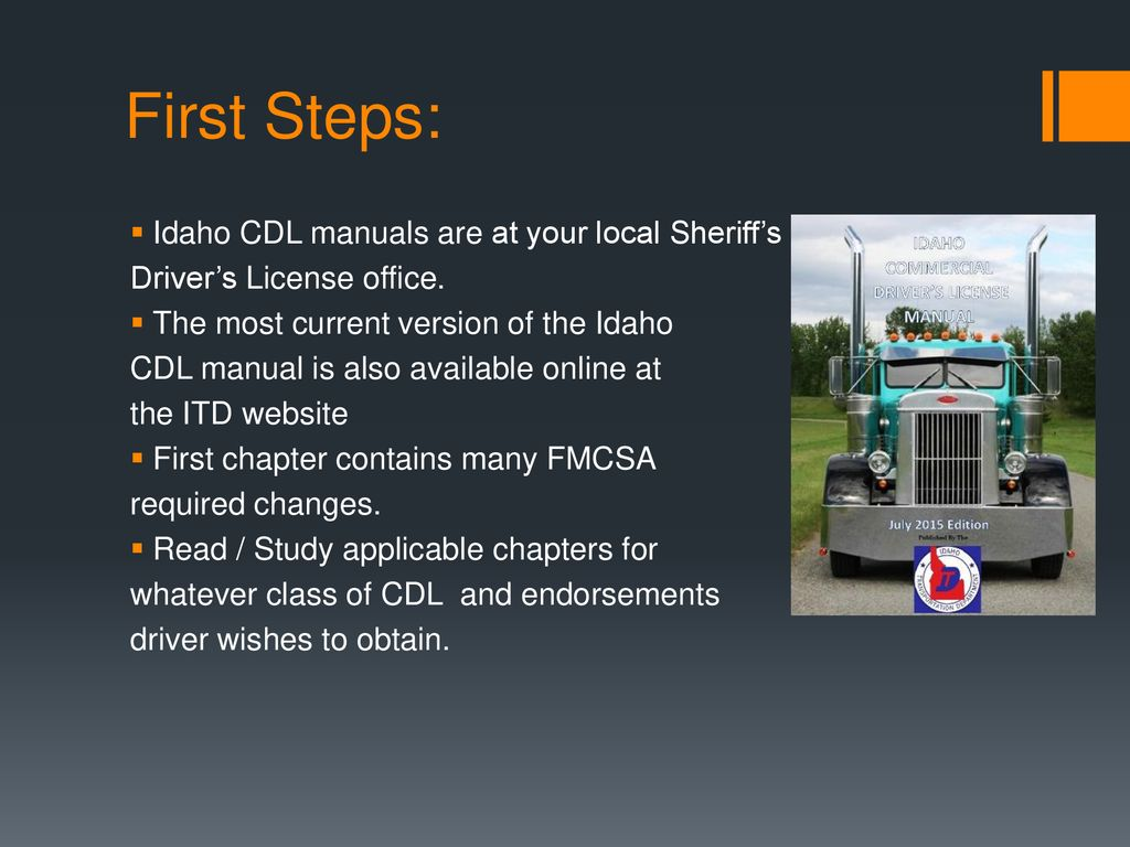 Overview of the CDL Process in Idaho - ppt download