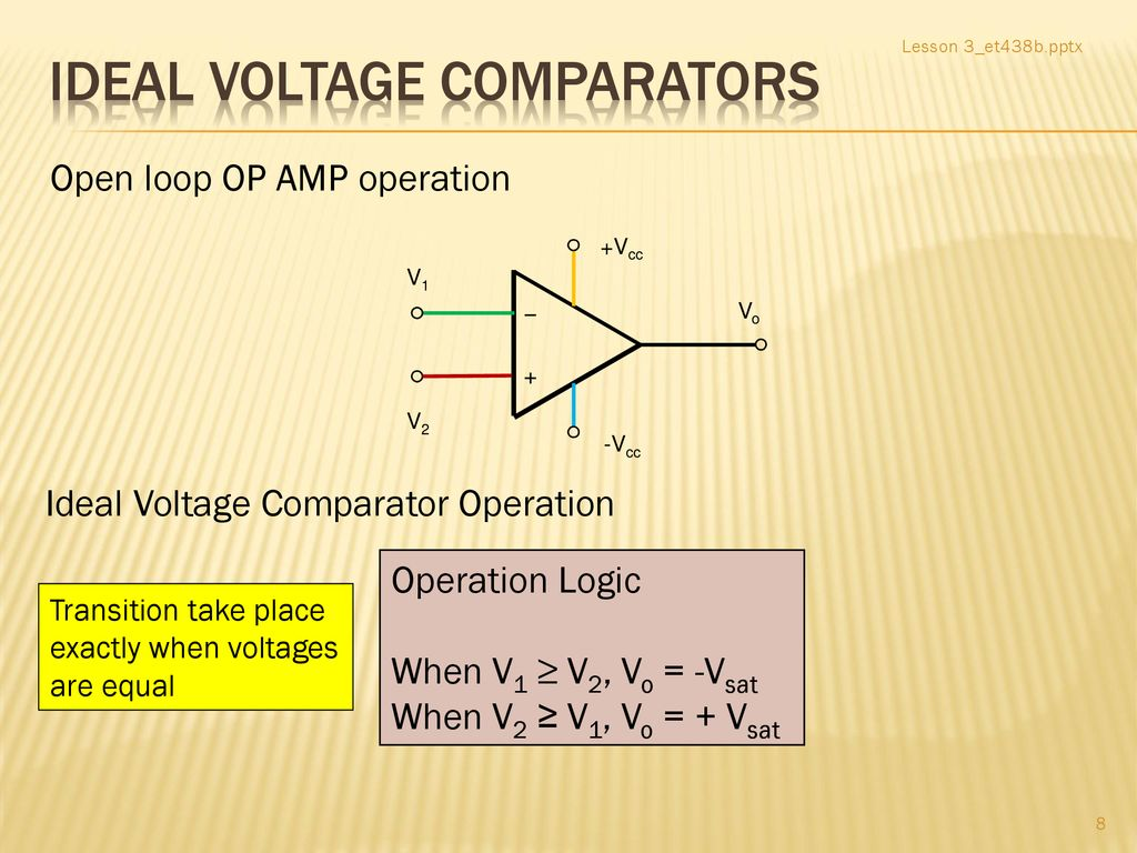 Opampcomparatorcircuit