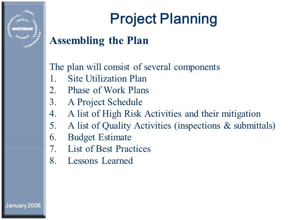 project planning assembling a mortenson integrated work plan