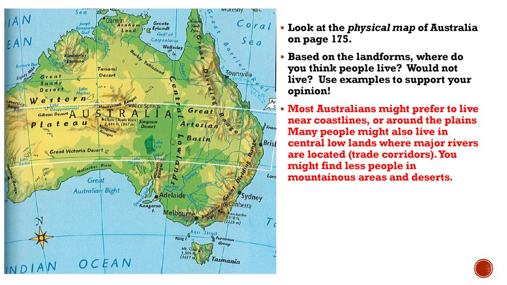 Australia Map Landforms.Australia Map Activity Ppt Download