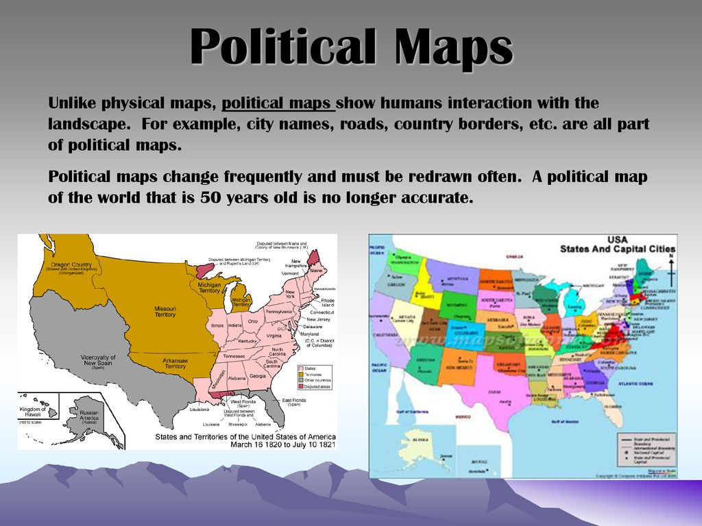 Types Of Maps Physical Political Thematic Ppt Download