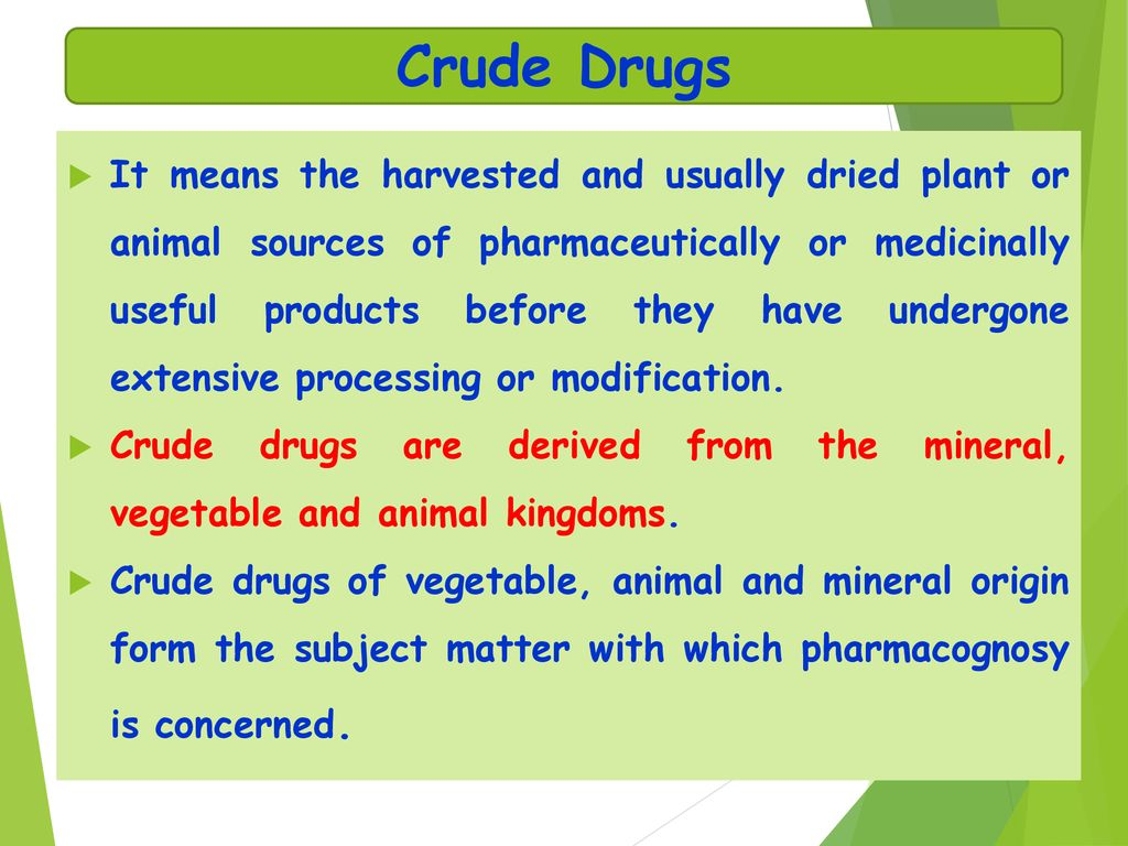 Pharmacognosy Definition - ppt download