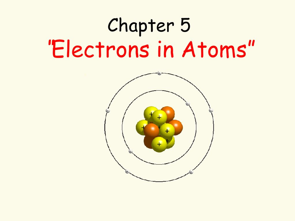 Chapter 5 Electrons In Atoms Ppt Download