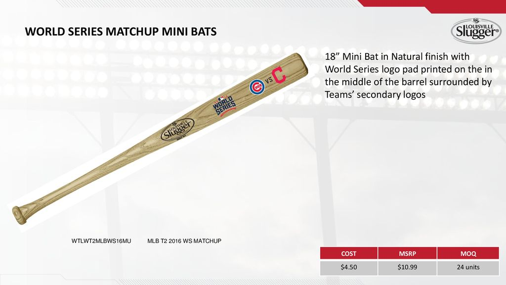 World Series Matchup Mini Bats