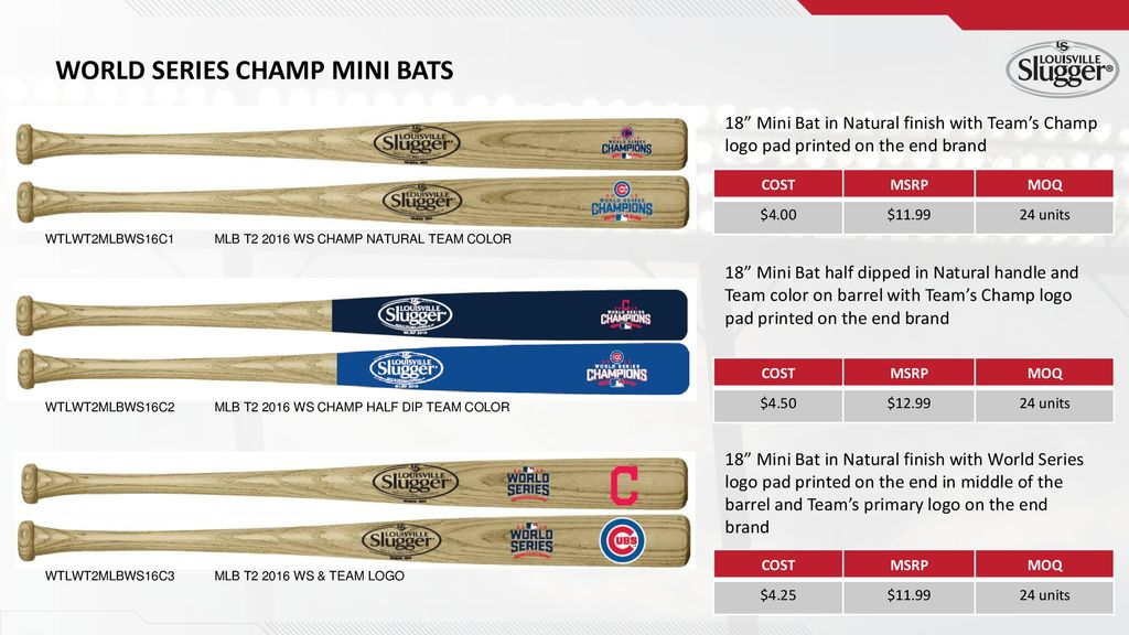 World Series Champ Mini Bats