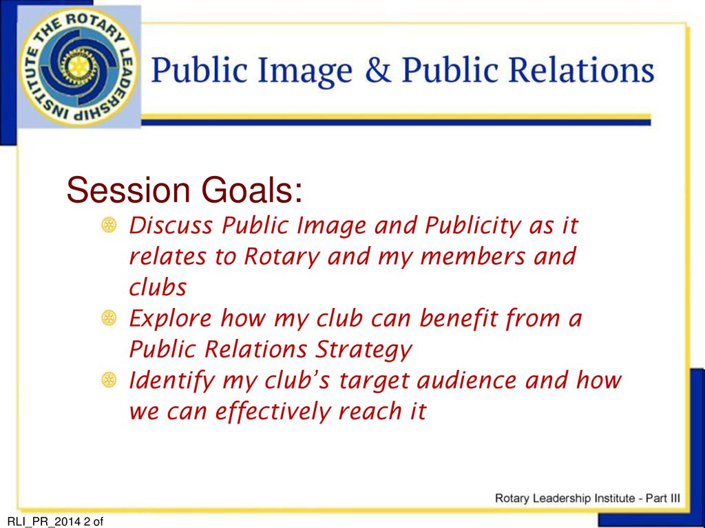 Welcome to the… Rotary Leadership Institute Part 3: My Rotary