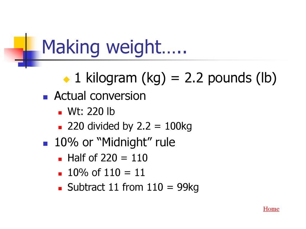 1 Kilogram Kg 22 Pounds Lb