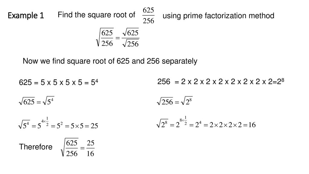 Square Root Of Fraction And Decimal Ppt Download