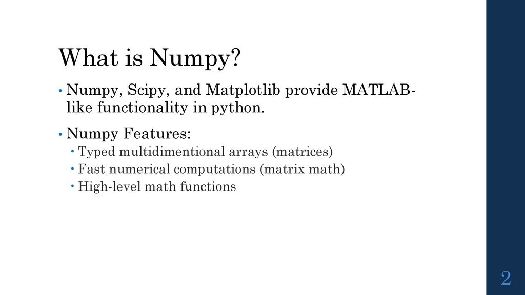 Numerical Computing in Python - ppt download