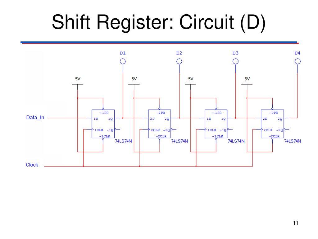 Flip Flop Applications Ppt Download Circuit Diagram Of D Shift Register