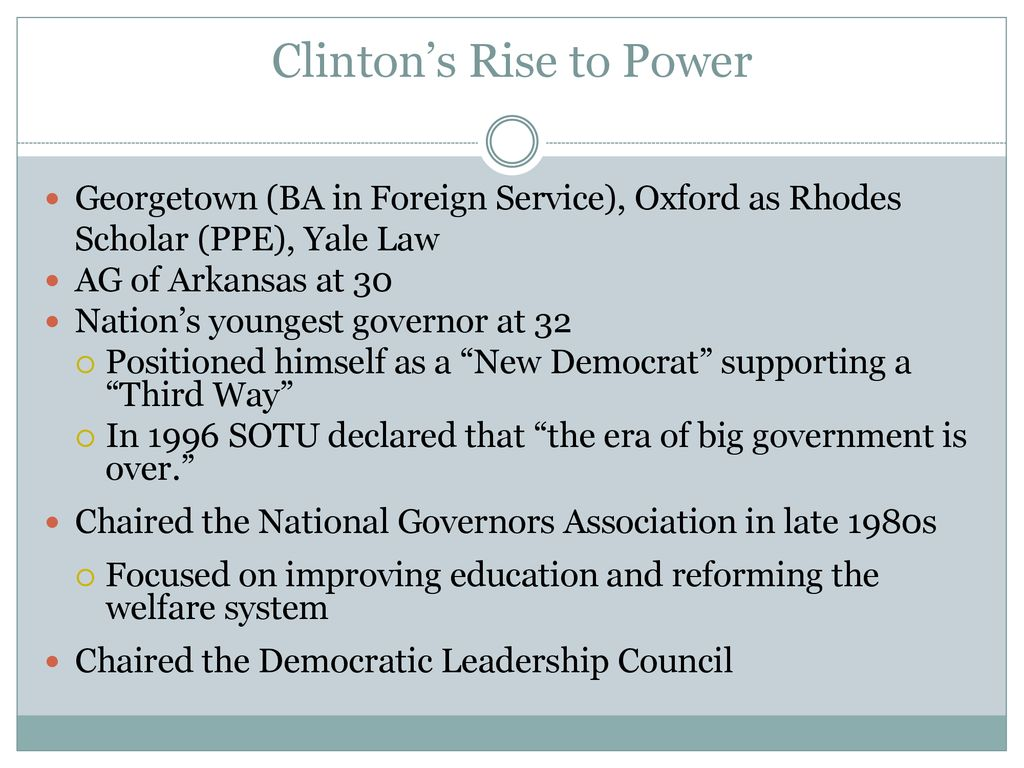 The Clinton Years Mr  Daniel Lazar  - ppt download