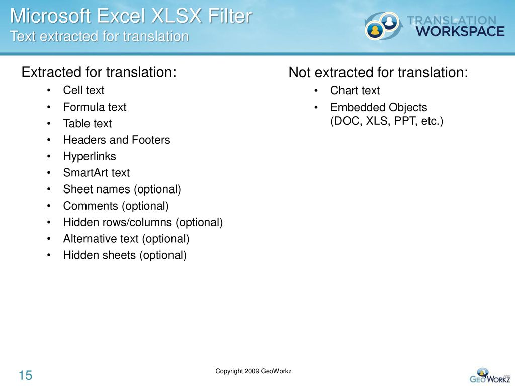 Translation Workspace File Filters - ppt download