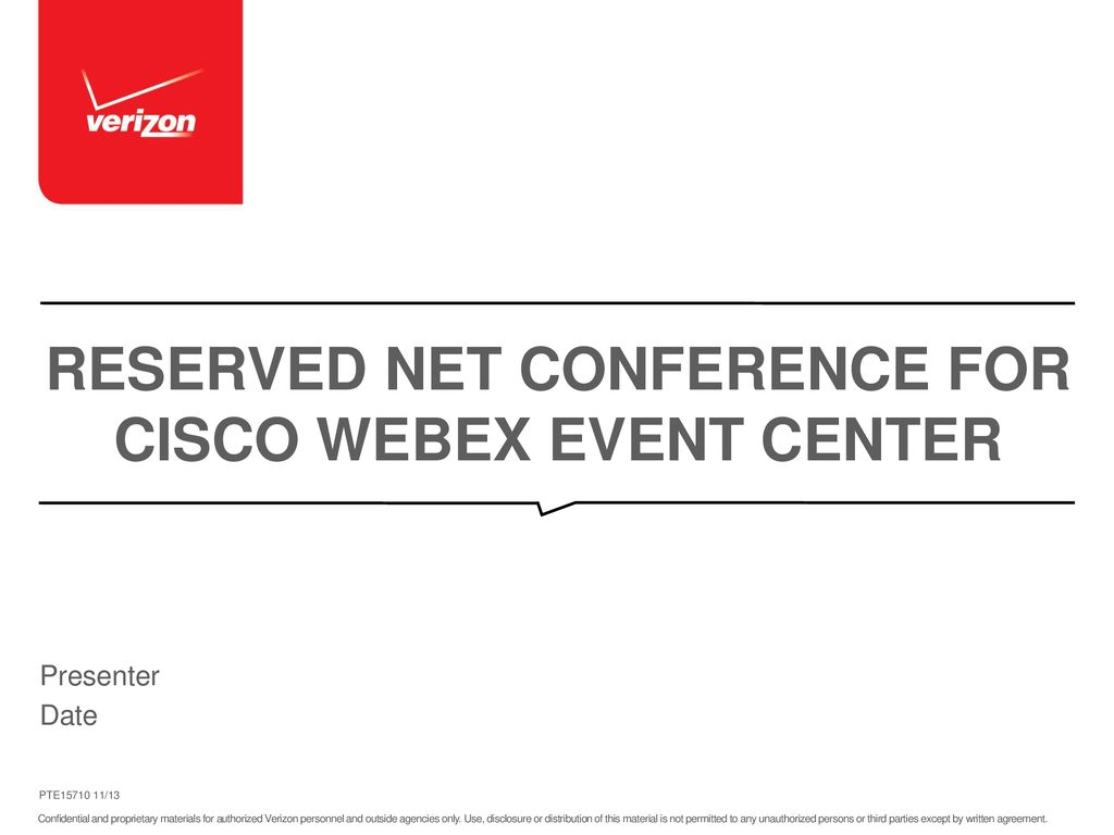 Reserved Net Conference for Cisco WebEx Event Center - ppt