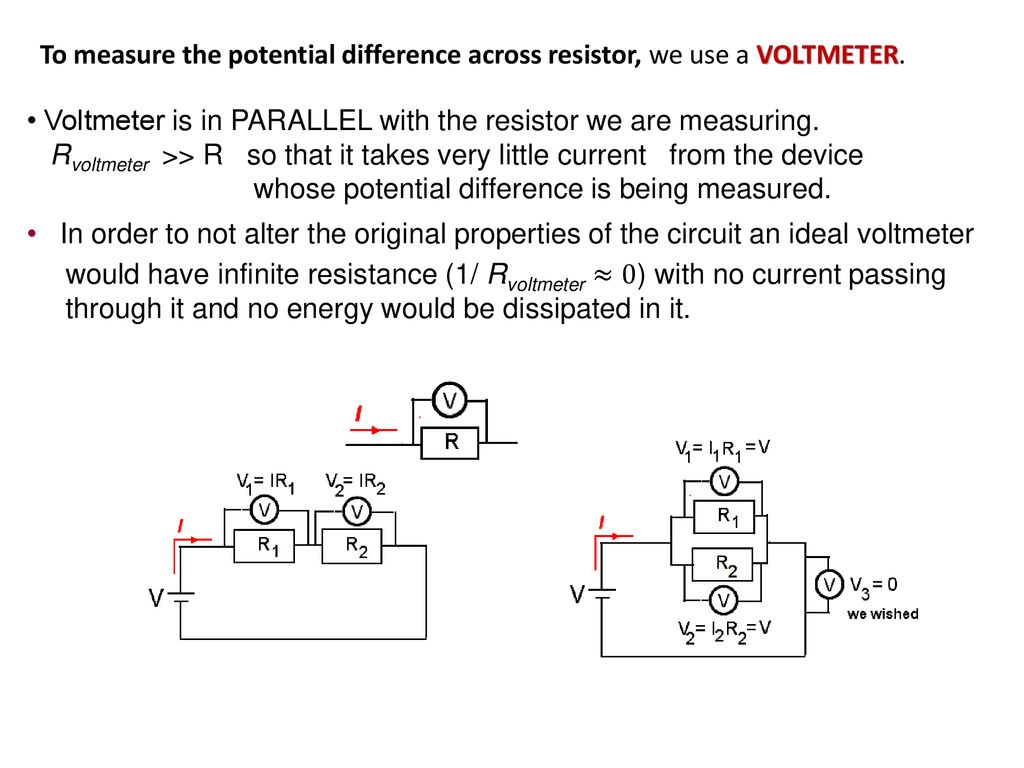 Topic 5 Electricity And Magnetism Ppt Download Resistors In A Voltage Divider Circuit To Provide Variable Resistance Measure The Potential Difference Across Resistor We Use Voltmeter
