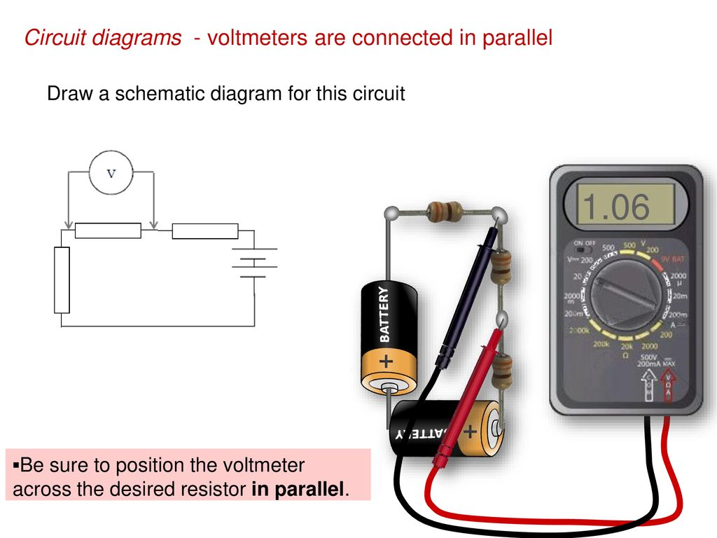 Topic 5 Electricity And Magnetism Ppt Download Circuit Diagram With Voltmeter 106 Diagrams Voltmeters Are Connected In Parallel