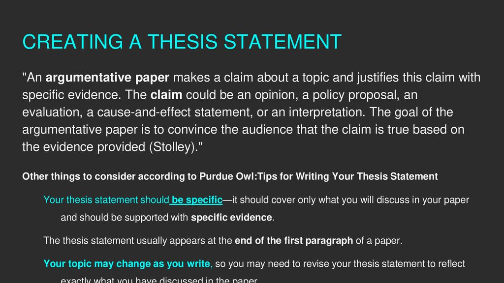 purdue owl creating a thesis statement