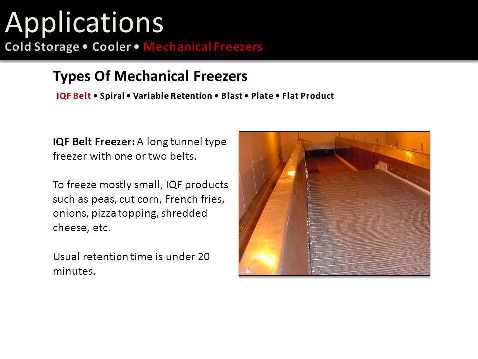 Applications Types Of Mechanical Freezers
