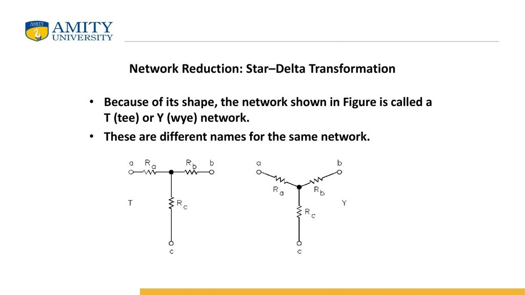 Network Reduction: Star–Delta Transformation - ppt download