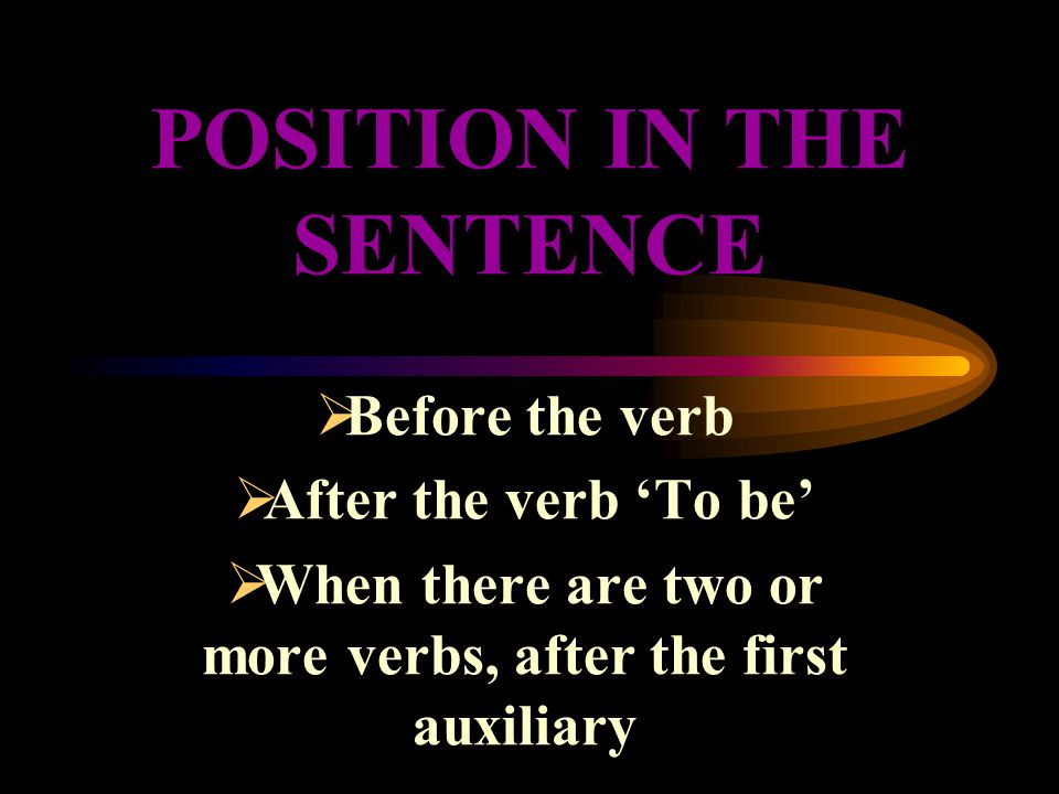 POSITION IN THE SENTENCE