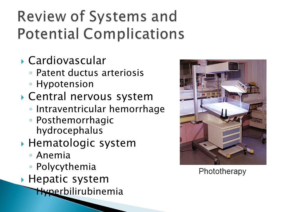 Review of Systems and Potential Complications