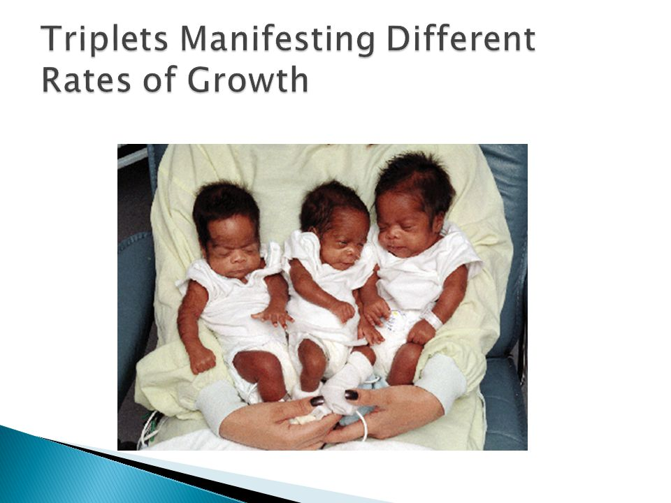 Triplets Manifesting Different Rates of Growth