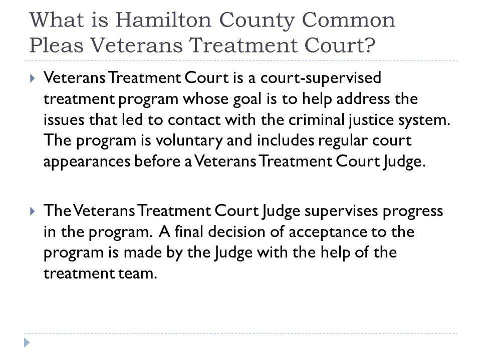 What is Hamilton County Common Pleas Veterans Treatment Court