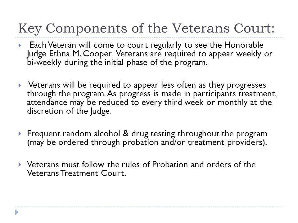 Key Components of the Veterans Court: