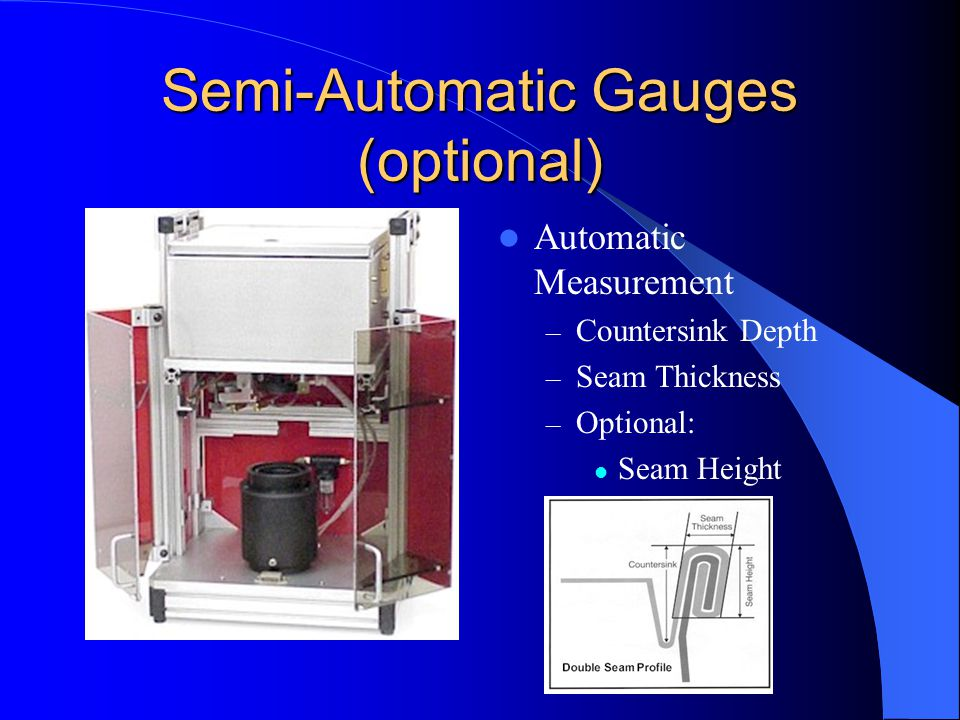 Double Seam Measurement with auto S E A M scan - ppt video online