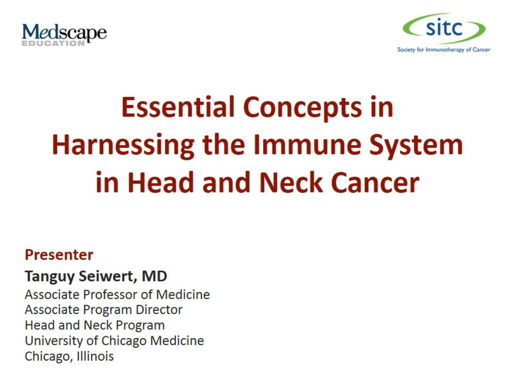Essential Concepts in Harnessing the Immune System in Head