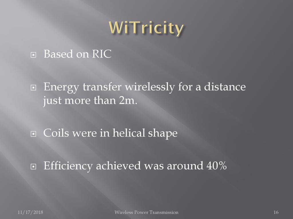 Wireless Power Transmission - ppt download