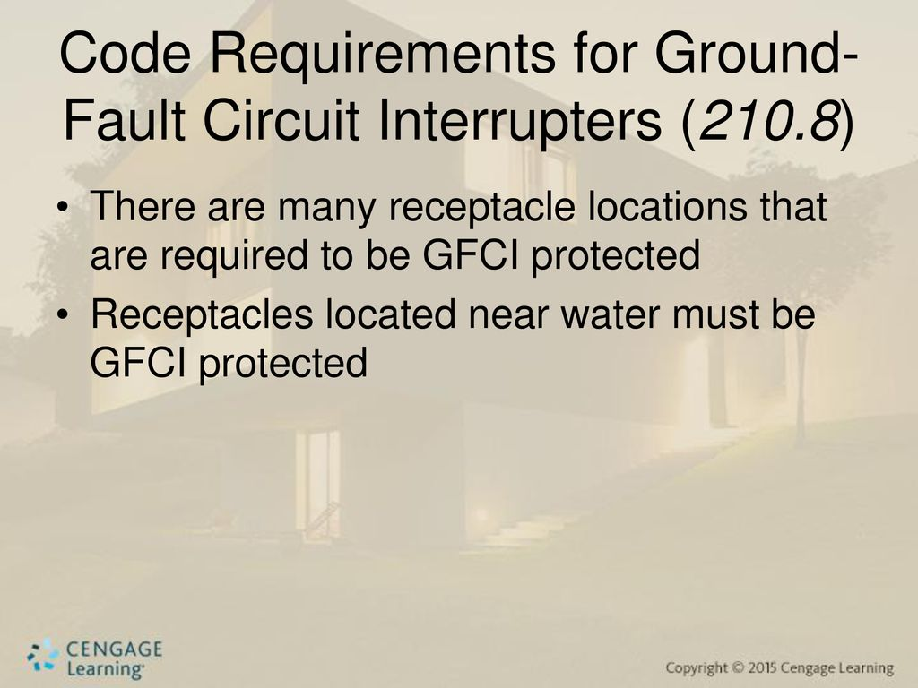 Chapter Six Ground Fault Circuit Interrupters Arc Groundfault Interrupter Protects From Electric Shock Gfci Code Requirements For 2108