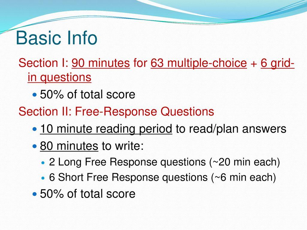 ap bio exam format
