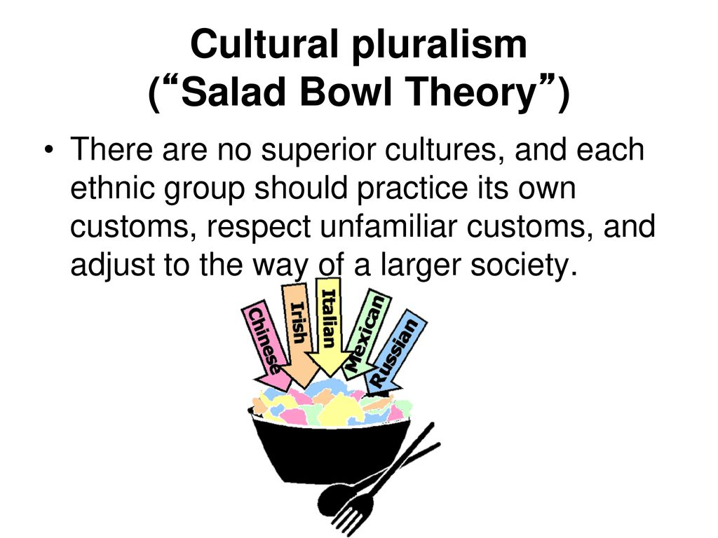 what is a salad bowl society