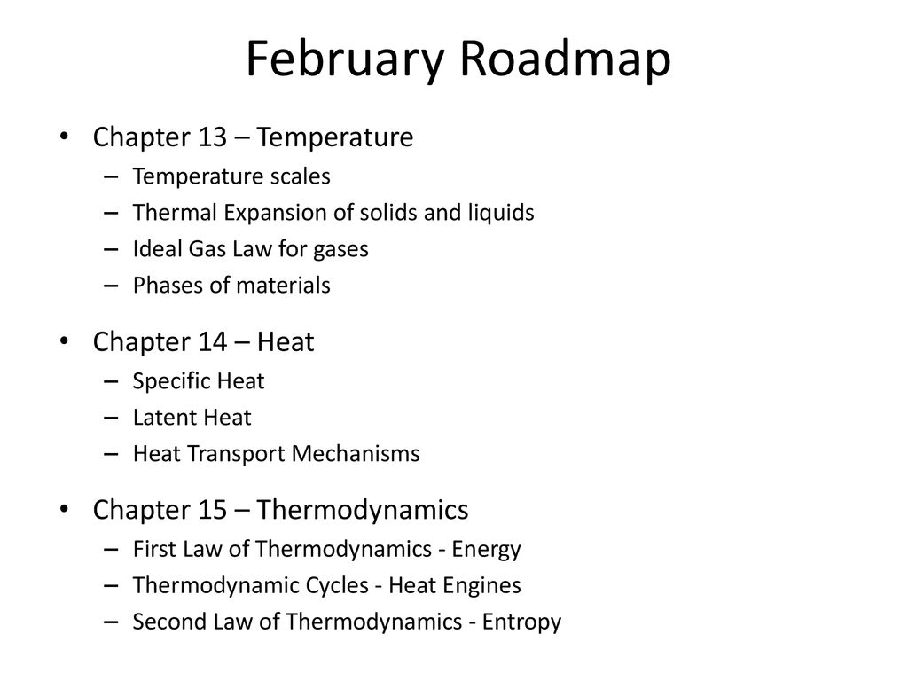 Thermal Expansion Of Solids Liquids Ppt Download Heat Engine Pv Diagram Ideal Gas February Roadmap Chapter 13 Temperature 14