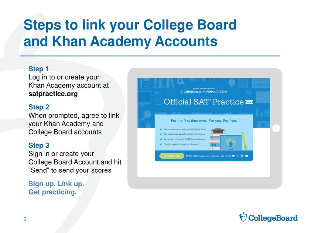Linking Khan Academy and College Board Student Accounts - ppt download