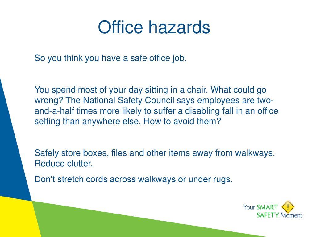 Office hazards  - ppt download