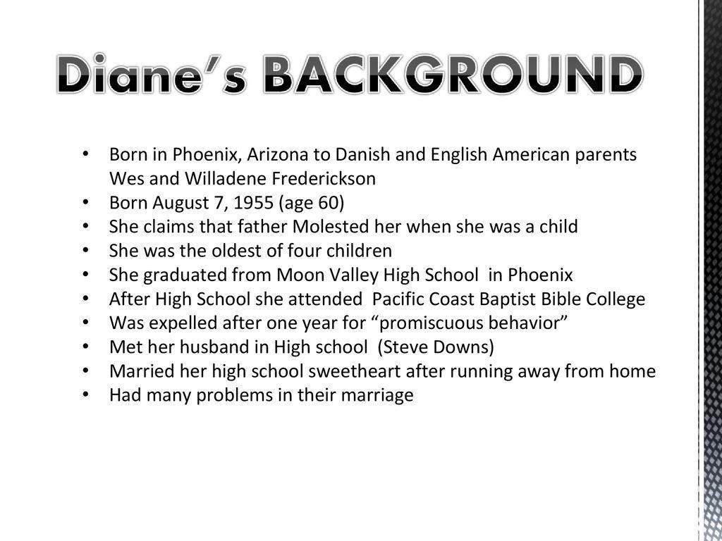 Elizabeth Diane Frederickson (Diane Downs) - ppt download