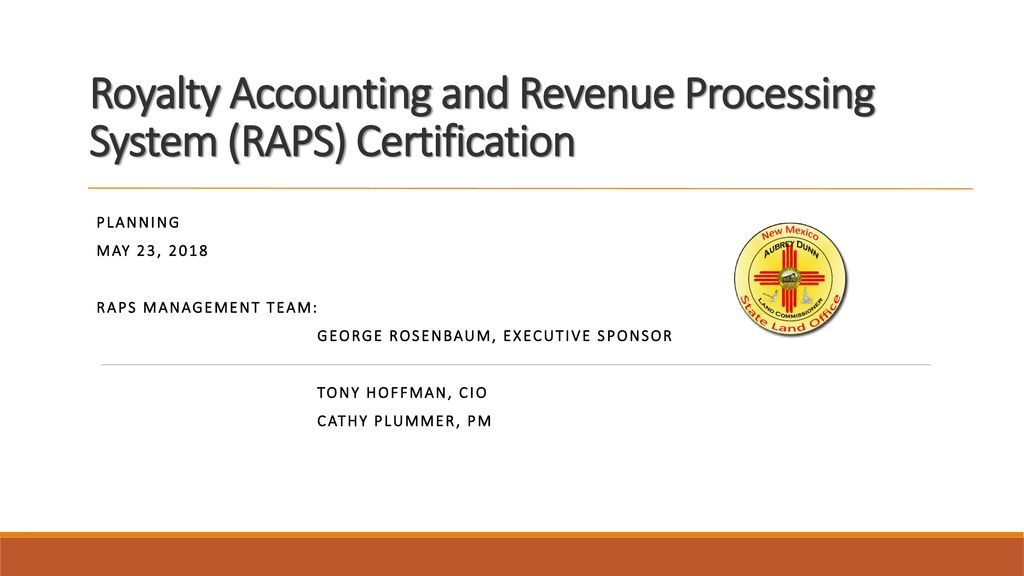Royalty Accounting And Revenue Processing System Raps