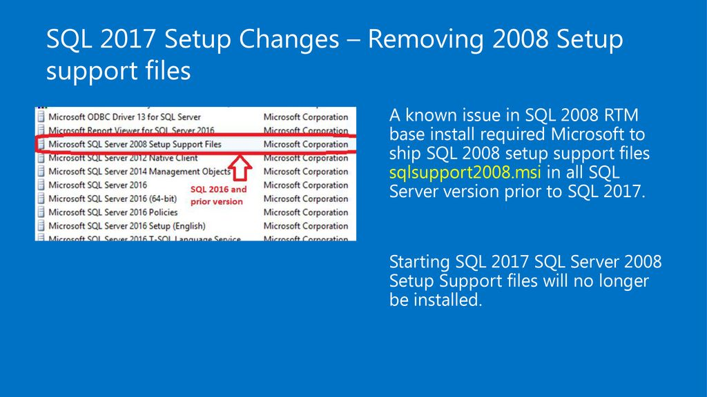 SQL Server 2017 on Windows Chirag Shah Premier Field