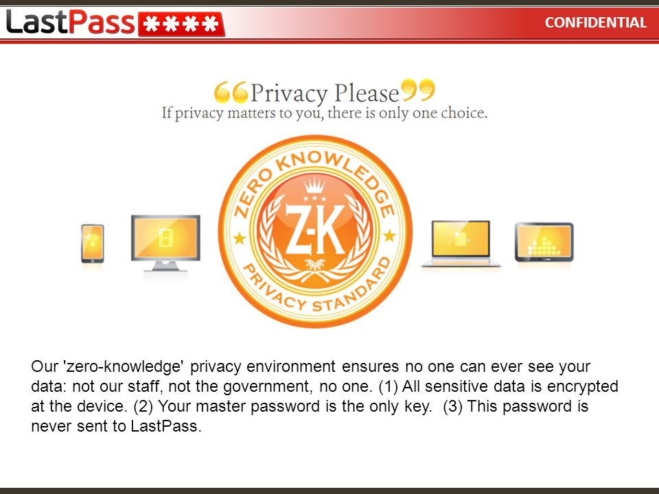 CONFIDENTIAL Using LastPass  - ppt video online download