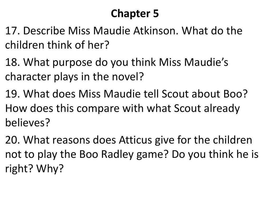miss maudie characteristics