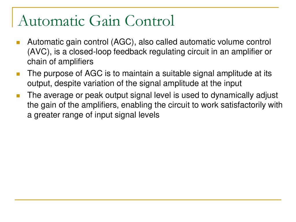 Eec 693 793 Applied Computer Vision With Depth Cameras Ppt Download Automatic Volume Control Circuit Gain