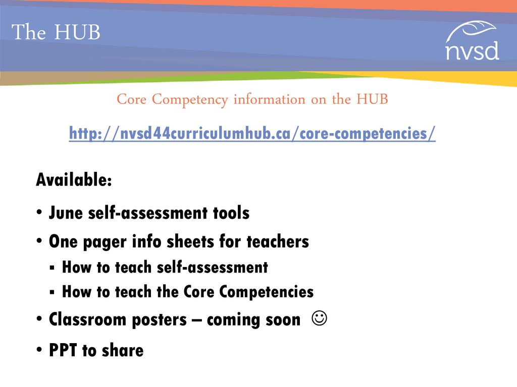 NVSD and the Core Competencies - ppt download