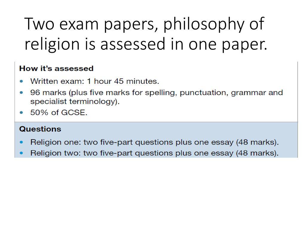 philosophy exam questions