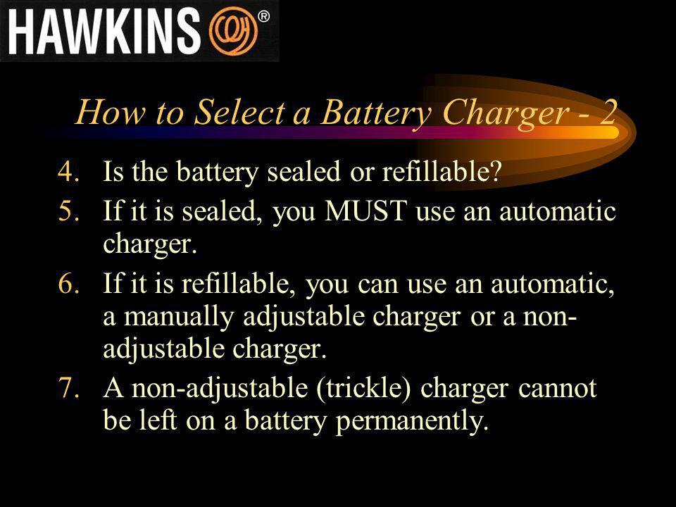 How to Select a Battery Charger - 2