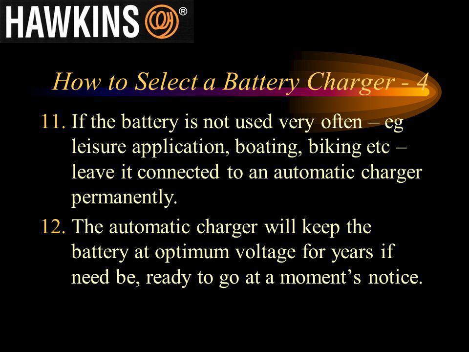 How to Select a Battery Charger - 4
